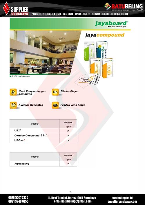 Brochure JAYABOARD BB 05